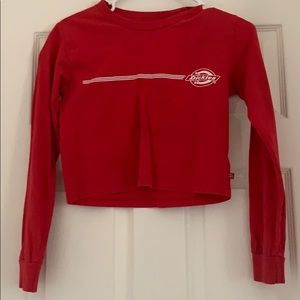 Tilly's Dickies cropped red shirt